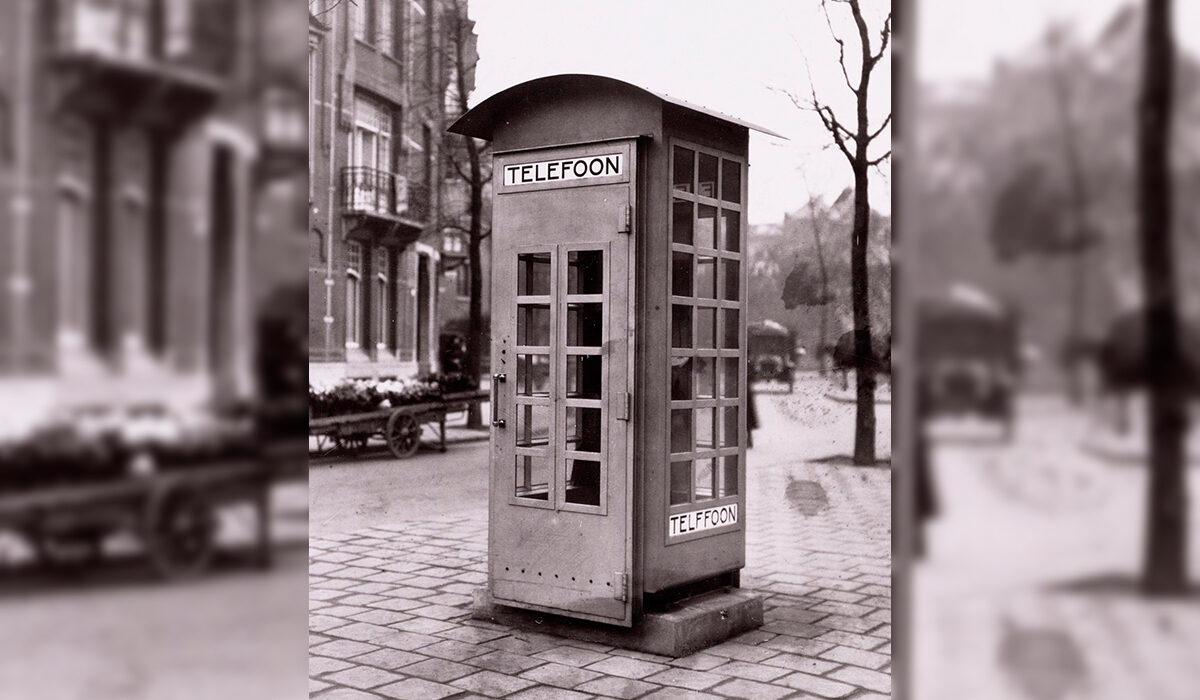 Plaatje geschiedenis 1931 Geschiedenis Eerste Telefooncel