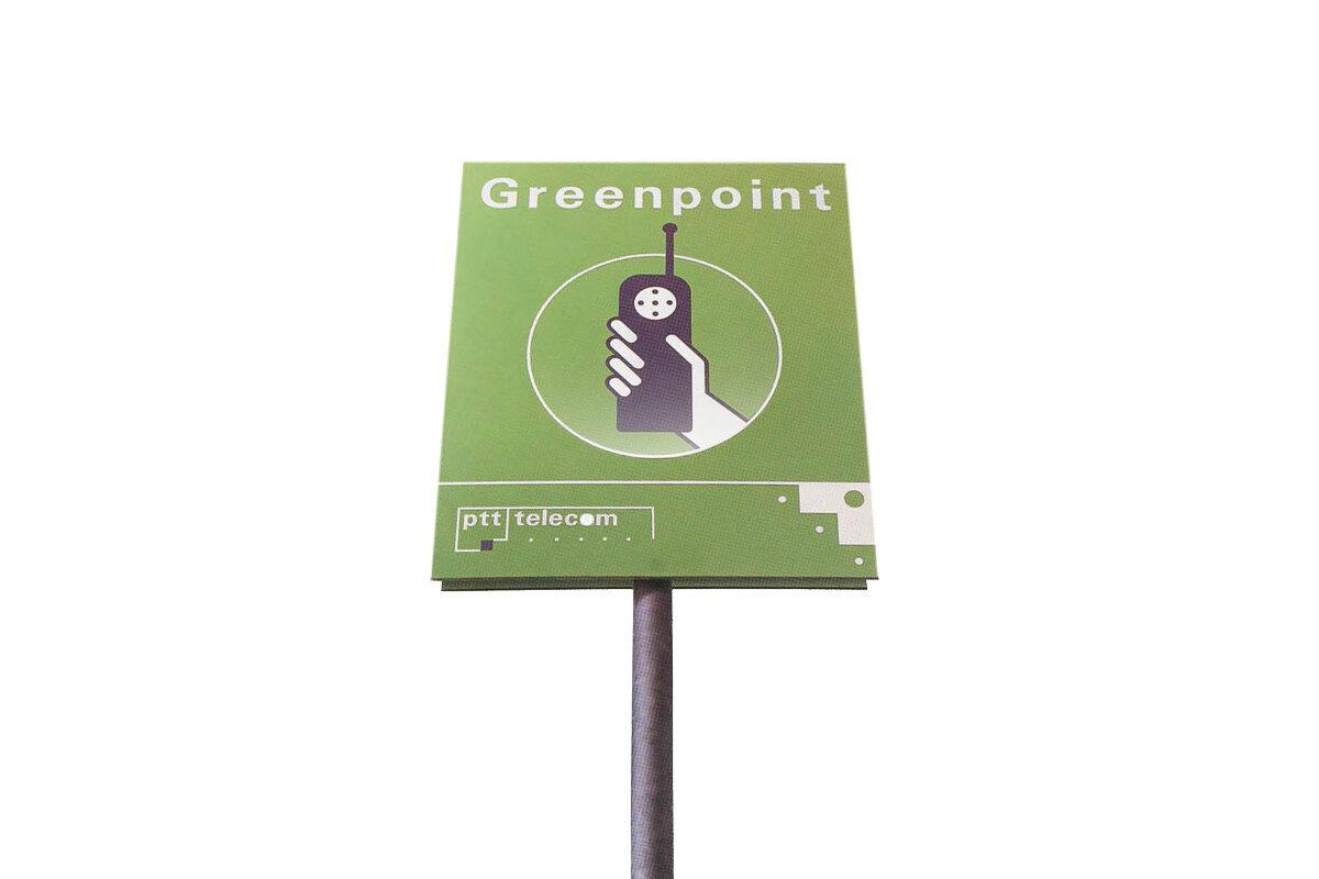 Plaatje geschiedenis Greenpoint bellen met toestel Kermit - 1992
