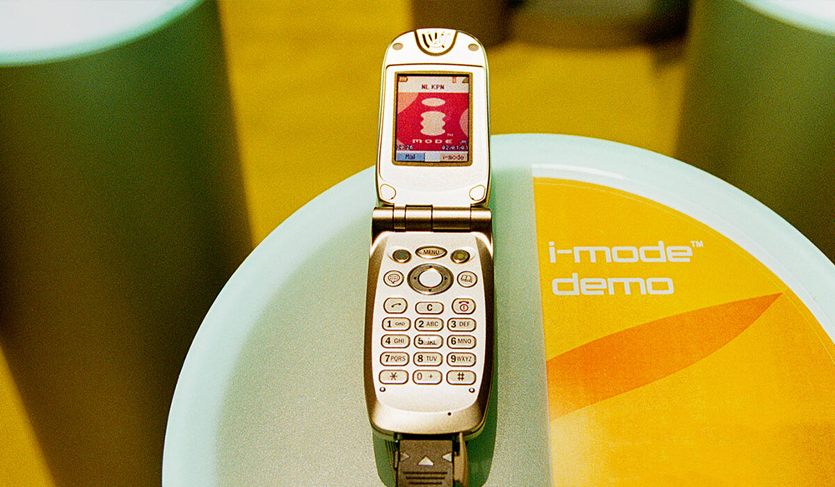 Plaatje geschiedenis  i Mode telefonie 2005