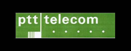 Plaatje geschiedenis PTT Telecom logo 1981 - 1989