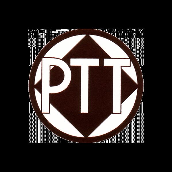 Plaatje geschiedenis PTT logo 1935 1950