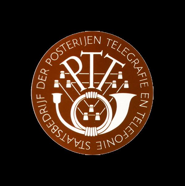 Plaatje geschiedenis  PTT logo1950 - 1957