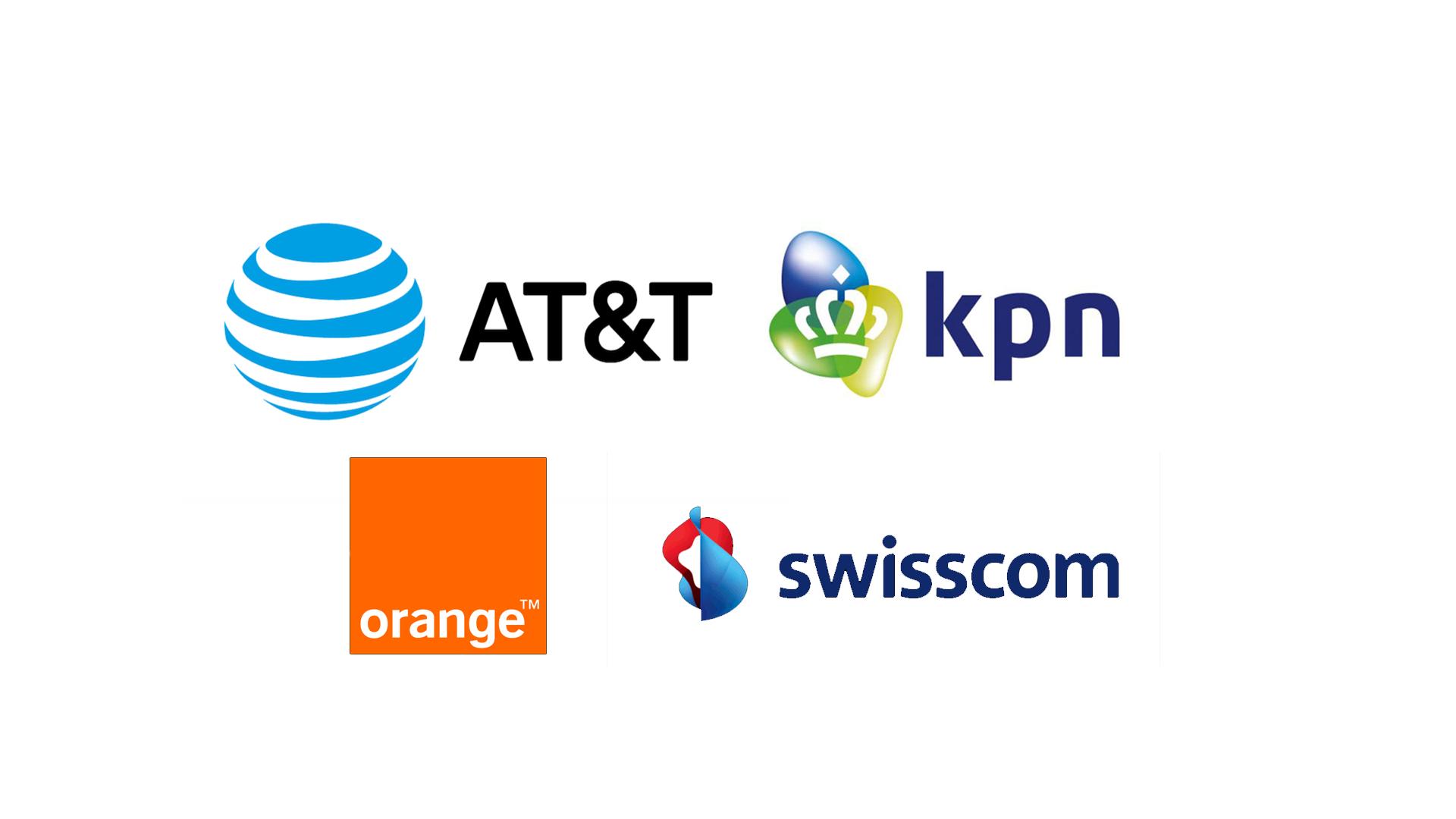 Logos swisscom att orange kpn